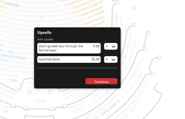 screen grab of ticket booking screen
