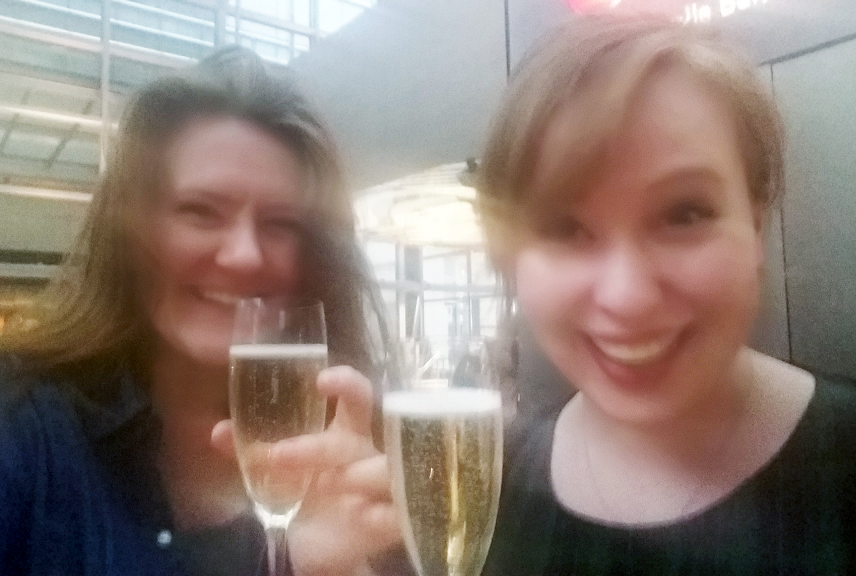 My lovely Producing and Marketing placement Emma has fought off stiff competition to take a Stage One Apprenticeship at English Touring Theatre. I'm enormously proud but will be super sad to see her go. Here we are celebrating in the mozzarella bar near the office (Canary Wharf is weird).