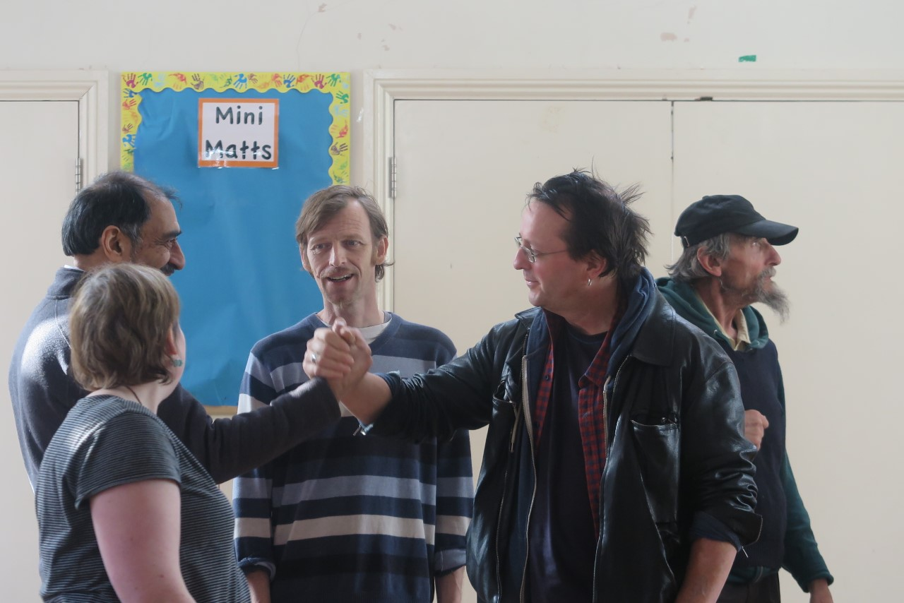 I run theatre workshops which culminate in the creation of inspiring and thought-provoking plays that reflect the participants' own stories. Today we are rehearsing 'Keep Holding My Hand', an original play devised by a group of people whose members include some who are facing mental health challenges. We can't wait to premiere the play next week.