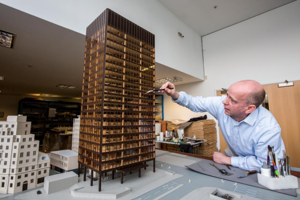 On Tuesday I arranged for the photographer from London's Evening Standard newspaper to have exclusive access to the team, where he captured the conservationist re-assembling the site model. It's one of the most impressive architectural models ever made and will be on display in the exhibition for the first time in over 30 years.