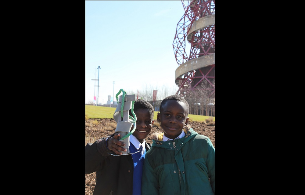 Pupils visited the Olympic Park to see a range of public realm artworks. They were encouraged to think more about their own artworks and share their work so far with pupils from the other schools.