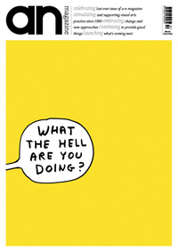 Old cover of a-n  © cover david shrigley – June 2012