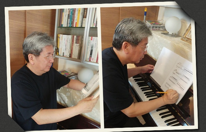 As a composer, I believe that one's culture provides the basic backbone for creative development. For me, the rich Chinese culture is a fathomless treasure trove from which I can draw my inspiration. Today, I spent my time at home reading and browsing through contemporary Chinese poetry, scouting for appropriate text for my new compositions. I also worked on scores for the upcoming atmospheric music theatre production 'Sands and Beyond', scheduled to be premiered in Hong Kong this July.