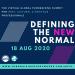 Defining the new normal online webinar advertisement