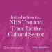 The Audience Agency -  Introduction to... NHS Test and Trace for the Cultural Sector artwork