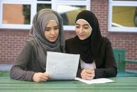 Photo of students with results