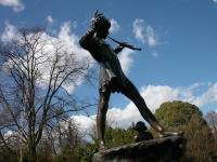 A photo of the Peter Pan statue in Hyde Park