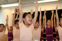 Ballet dancers smile