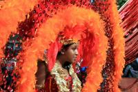 Photo of woman with carnival headdress