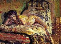 A painting of a reclining nude