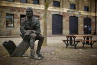 Photo of statute, Arnolfini