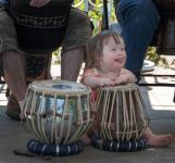 Photo of a girl drumming
