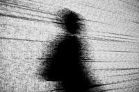 Image of data with a human shadow