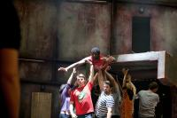 Photo of an amateur cast rehearshing Pericles