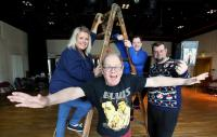 A rehearsal at Stage Beyond, a theatre company for adults with learning difficulties