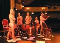 Orchestra members, with their instruments - naked