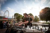 A DJ outside on London's South Bank