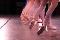 Photo of ballet dancers feet
