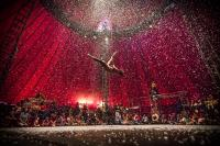 Photo of acrobat in circus tent