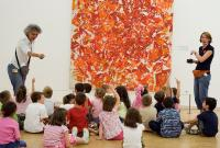 Photo of kids in a gallery