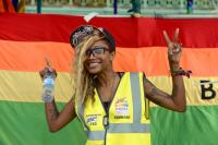 A steward at Brighton Pride festival