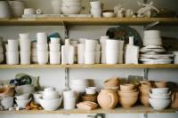 Photo of ceramics in a workshop