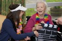 Image of care home film making