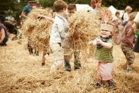 Children in hay