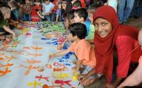 Photo of children painting