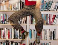 Photo of dancer in library