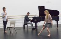 Photo of pianist and dancer