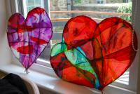 Photo of hearts made from paper