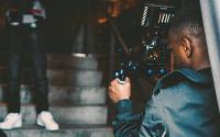 film maker using a camera