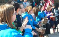 Photo of young people drumming