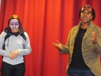 Photo of two women wearing masks