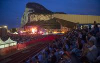 Photo of a crowd in front of a stage in Gibraltar