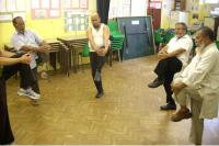 Older men dancing