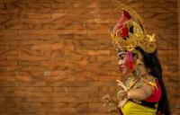 Photo of a Balinese dancer