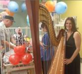 Harpist on ward