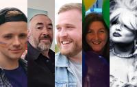 (L-R) James Huyton, James Lawler, Danny Kilbride, Joan Burnett and Tammy Reynolds