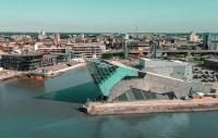 Photo of Hull looking from the air back to the coast
