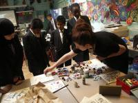 Photo of an artist-led arts class