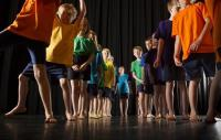 Photo of children in dance workshop