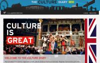 Screenshot of Culture Diary website