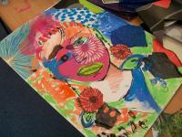 Picture of a self portrait created by one of the participants