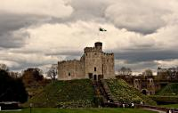 Cardiff Castle on a cloudy day