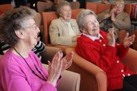 Photo of elderly people celebrating