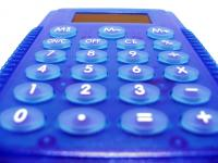 Image of blue calculator