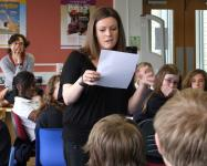 Photo of a script development session at Charter School in Dulwich