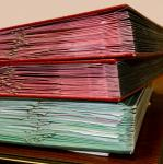Photo of pile of folders